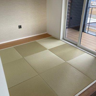 ダイケン清流カラー和紙表使用ヘリなし半畳 6畳部屋 新畳施工費