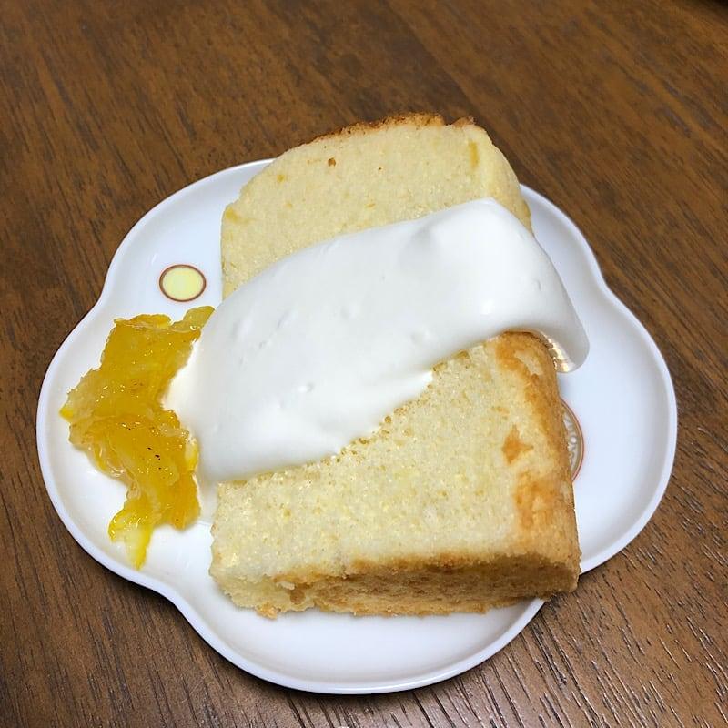 シフォンケーキ 1カットのイメージその1