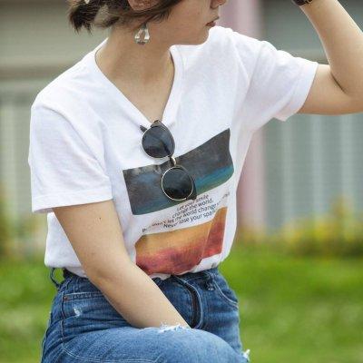 メンズ・レディース レター Tシャツ〜sparkle〜