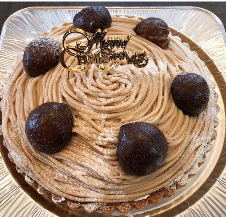 【店頭受け取りのみ】渋皮栗のモンブランタルト直径21cm*クリスマスケーキのイメージその1