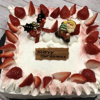 【店頭受け取りのみ】12/6締め切り*早期ネット予約価格❗️たっぷりいちご四角ショートクリスマスケーキ 21×21cm