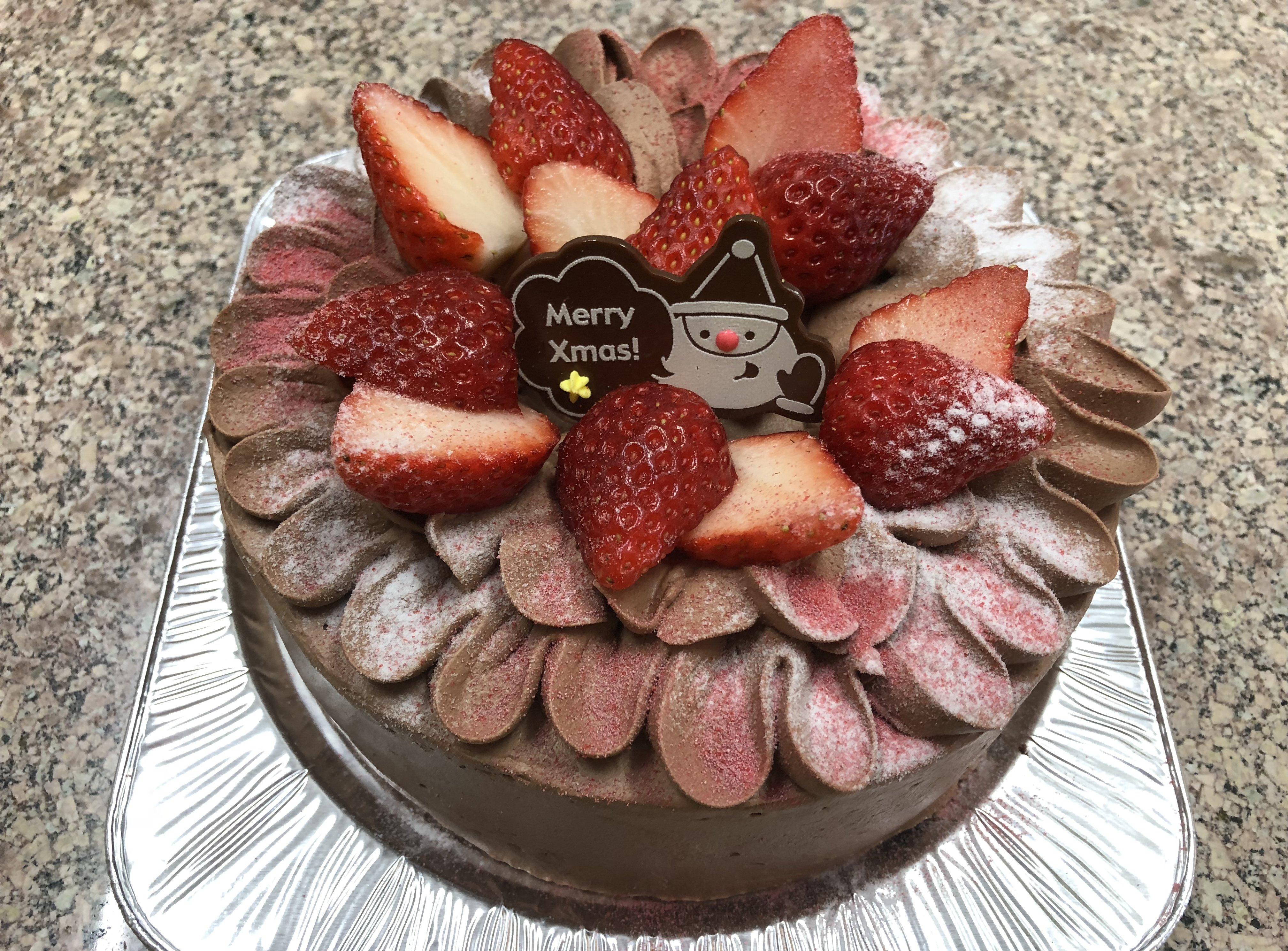 【店頭受け取りのみ】たっぷりいちご生チョコショートクリスマスケーキ 6号18cm のイメージその1