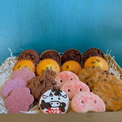 F.干支クッキー&ケーキ(7種21個入り)】