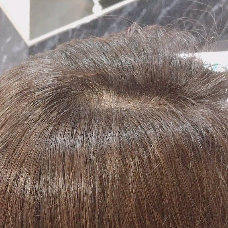 極短期間で白髪染めをピンポイントで染めるのイメージその1