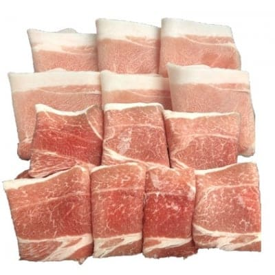 【送料無料】おきなわブランド豚 金アグー ウデ肉・モモ肉のセット(冷凍)
