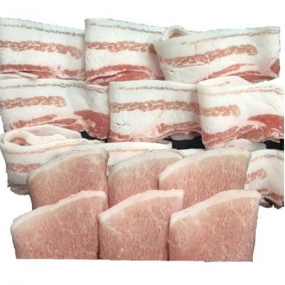 【ギフト用 送料無料】おきなわブランド豚 金アグー モモ肉・バラ肉のセット(冷凍)