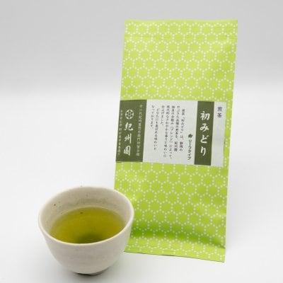 煎茶 初みどり 100g【紀州園オリジナルブレンド】やぶきた品種・普通蒸しの定番のお茶【カテキンパワーで抗ウイルス・栄養たっぷりの緑茶で免疫力アップ】