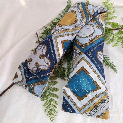 芯まで温まる魔法のぬか袋カイロ L スカーフ柄 ブルー|肩腰首 全身用|免...