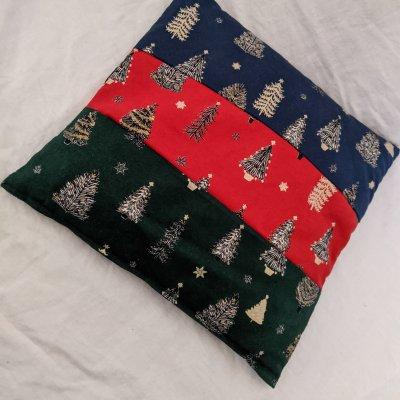 【クリスマス限定品 高ポイント!】魔法のぬか袋カイロ ミニ座布団サイズ スクエア クリスマスツリー|肩腰首お腹用|免疫力アップ|冷え性改善|ホッカイロ|リラックス