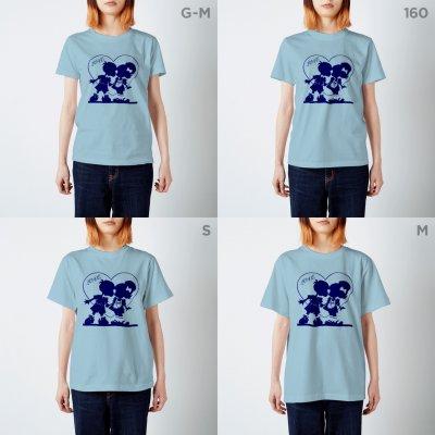 LOVE❤️KISS Tシャツ(ネイビー)