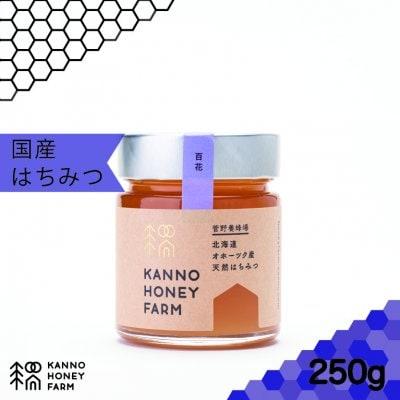 【土地により個性が違う逸品】北海道産天然はちみつ 百花蜜 250g
