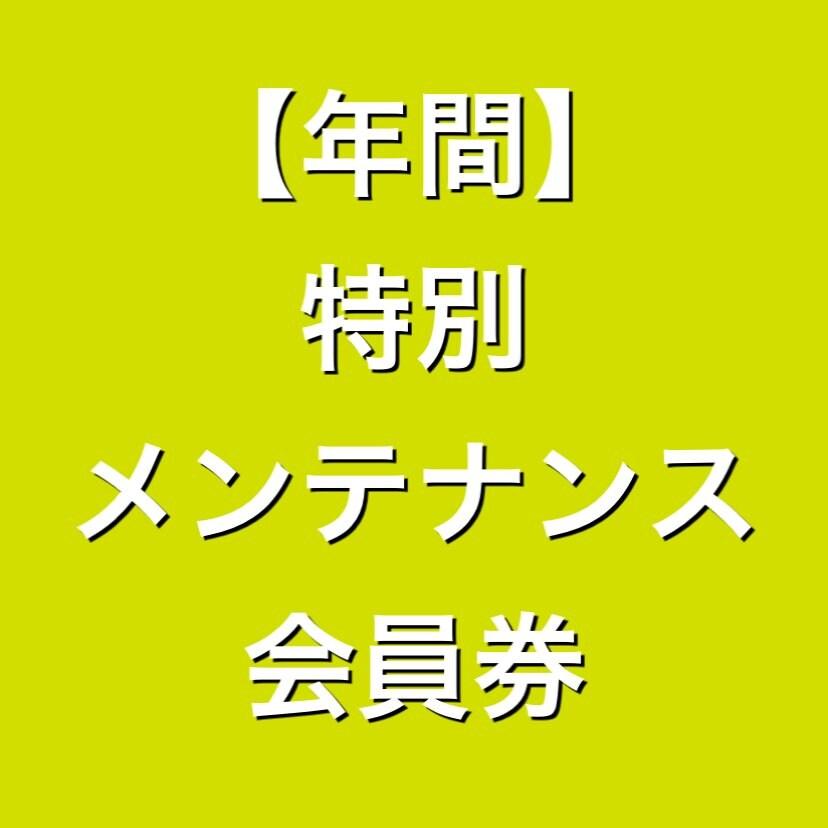 【年間】特別メンテナンス会員券【回数券終了の方限定】のイメージその1
