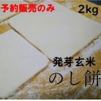 予約販売年末受け渡し◆発芽玄米のし餅2kg◆無添加