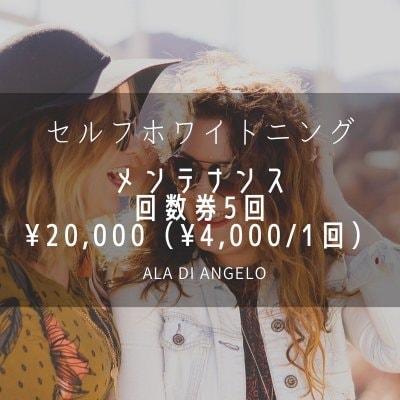 セルフホワイトニングメンテナンス回数券5回¥20000(¥4000/1回)