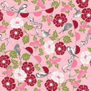 インポートファブリック|Riley Blake|ファブリック110cm×50cm〜(Remember)ピンク|カルトナージュの材料に♪