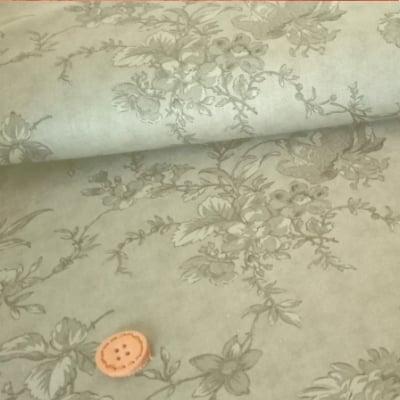人気のmoda|ファブリック110cm×50cm〜|ROMANTIC BLOOMS |チャコールグレー|カルトナージュの材料に♪