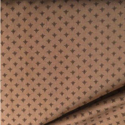 moda ファブリック 110cm×50cm〜COTTONTAIL COTTAGE|アンティークチャーム柄×モカブラウン|カルトナージュの材料に♪