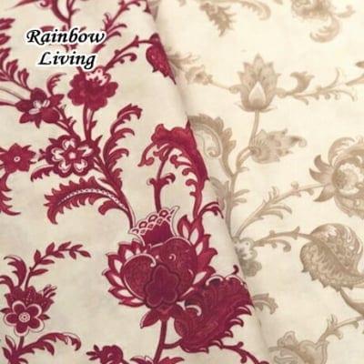 人気のモダmoda ファブリック110cm×50cm〜CINNABERRY 花柄 2色|カルトナージュの材料に♪