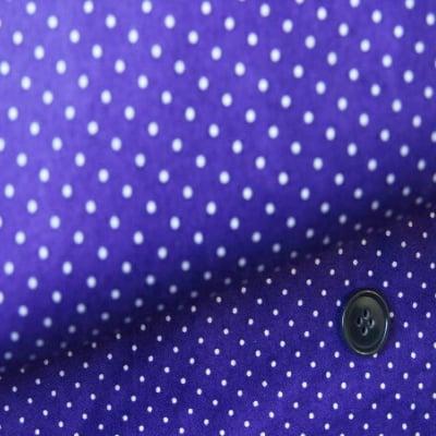 モダmodaファブリック|110cm×50cm〜(Essential Dots)ディープパープル×1mm白ドット |カルトナージュの材料に♪
