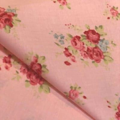 2枚組カットクロス|フローラル×トレリス(ピンク)|カルトナージュの材料に♪布の柄合わせに困ったらコレ!
