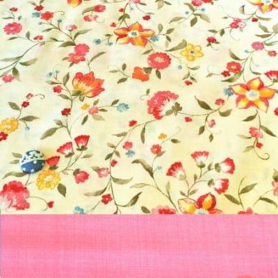 2枚組カットクロス 花柄×ピンク moda カルトナージュの材料に♪布の柄合わせに困ったらコレ!