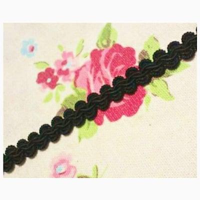 10mm巾ブレード(トリミングレース)Embroidery |1m〜|黒|カルトナージュの材料に♪