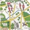 moda 生地|ファブリック110cm×50cm〜LONDONMAP ロンドンマップ|カルトナージュの材料に♪