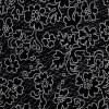 Michael Millerファブリック 110cm×50cm〜 DC8503 小花柄 LACEY 布 マイケルミラー 黒地 ブラック系 カルトナージュの材料に