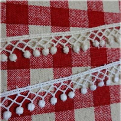 ★綿トーションレース(白・生成り)■15mm巾★カルトナージュの材料に♪