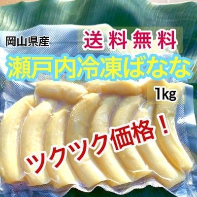 【国産】瀬戸内ばなな【農薬不使用】冷凍バナナ1㎏(写真は500g)