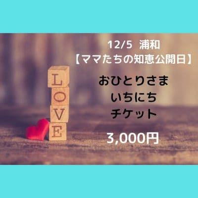 12/5【ママたちの知恵公開日】浦和 お一人様チケット一日分