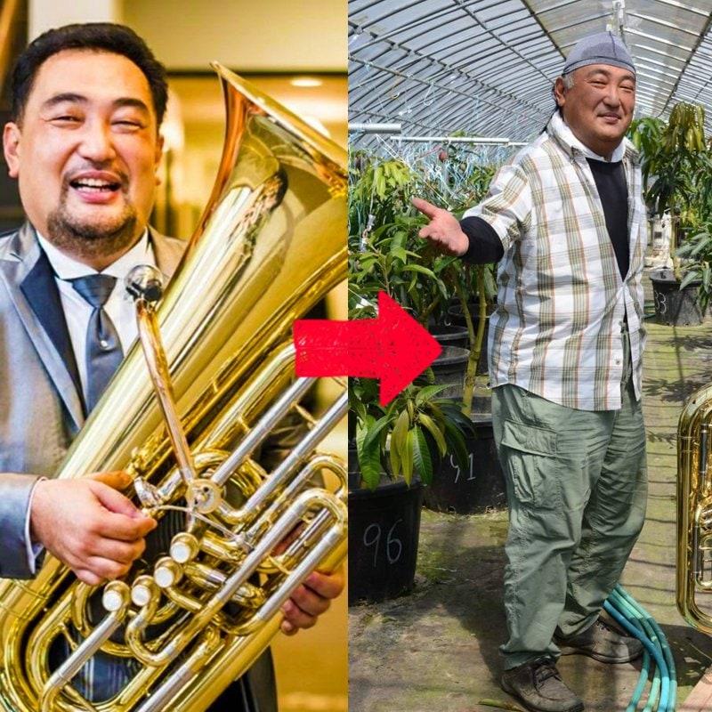 【クラウドファンディング】テューバ奏者 緒方淳一 「音楽家→農家プロジェクト」筑前と小郡に新たな名産をのイメージその1