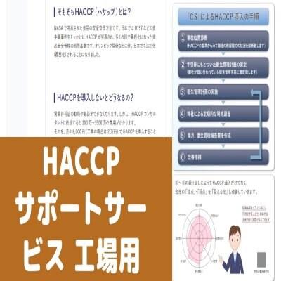 【定額制】HACCP導入サポート|工場向けチケット