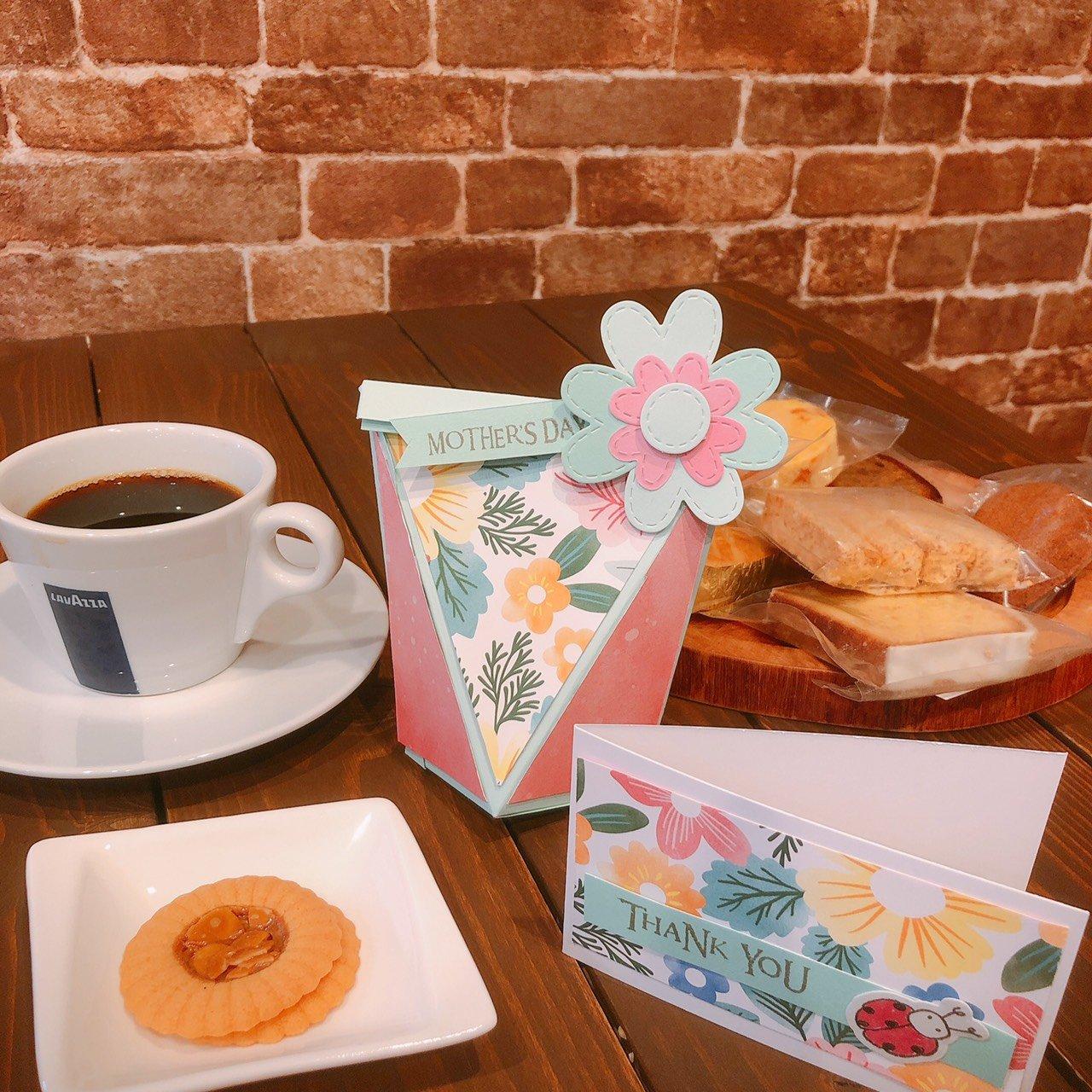 カフェでワークショップ!!焼き菓子ボックス&メッセージカード作り☆L'Ours米粉焼き菓子セット付き 第一部(10:30〜12:30)のイメージその1
