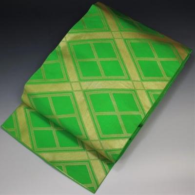 【あいまる中古帯】袋帯 正絹 金系 現代帯