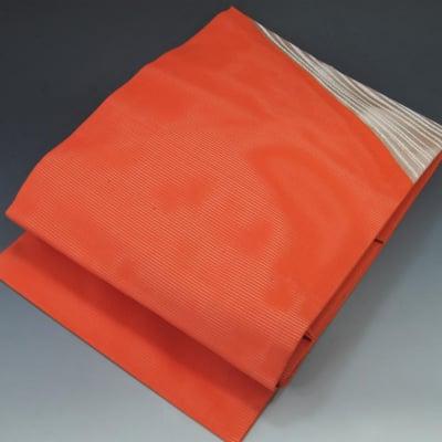 【あいまる中古帯】九寸なごや帯 正絹 絽綴 夏用 銀系 現代帯
