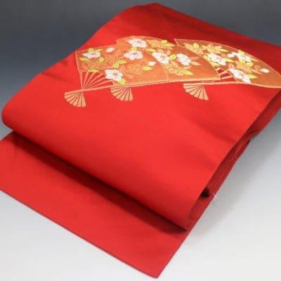 【あいまる中古帯】八寸なごや帯 正絹 金糸