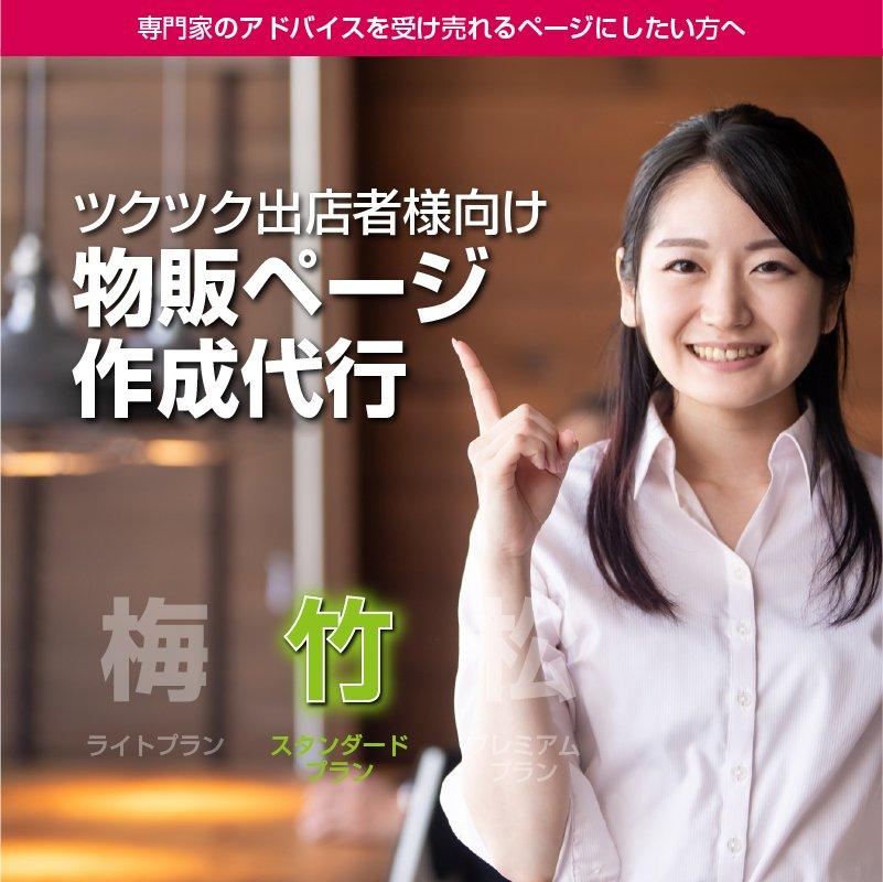 【竹・スタンダードプラン】ツクツク物販商品ページ制作代行│こだわりコース│専門家のアドバイスを受け売れるページにしたい方へbpd-002のイメージその1