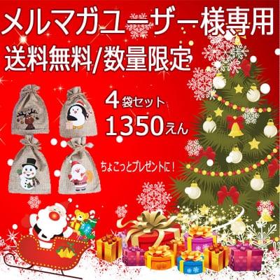 【★送料無料/メルマガユーザー様専用】クリスマスプチギフト4袋セット