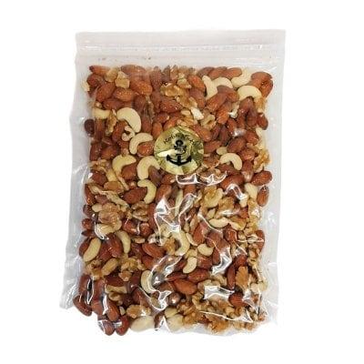 3種塩付きミックスナッツ350g×1袋入り/赤穂の塩使用•大袋ジッパー付き