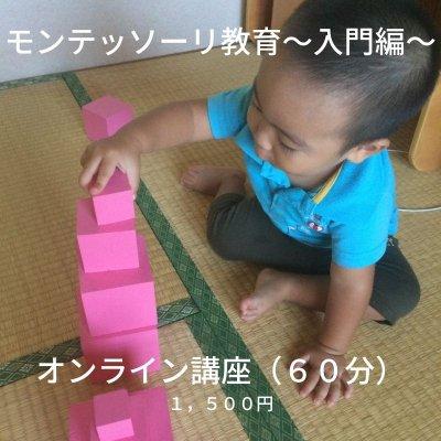 【オンライン】おうちでできるモンテッソーリ教育講座〜入門編〜