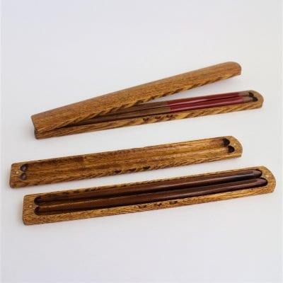 うるしの箸箱 [23.5㎝箸用・男性サイズ] タモの木/本漆
