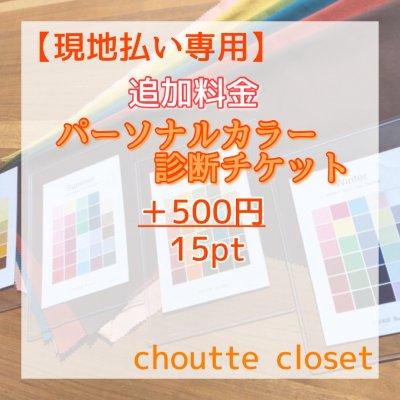 【現地払い専用】追加料金+500円パーソナルカラー診断チケット