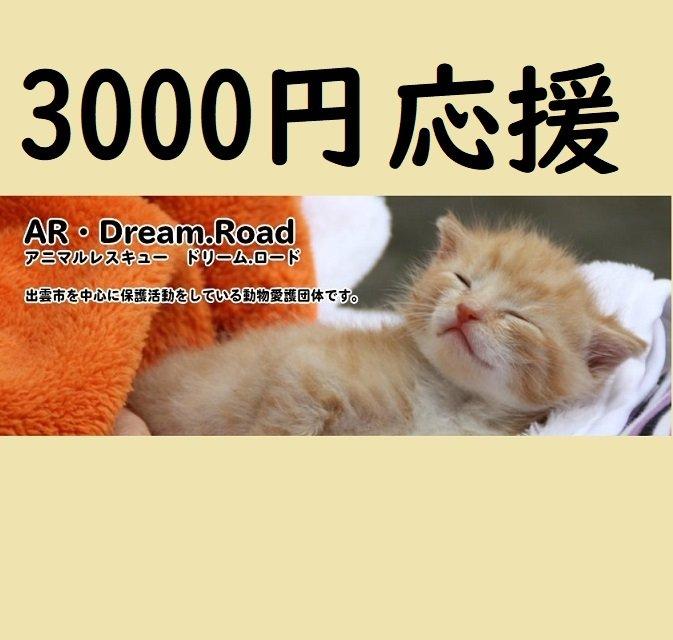 NPO法人アニマルレスキュードリームロード応援チケット一口3,000円のイメージその1