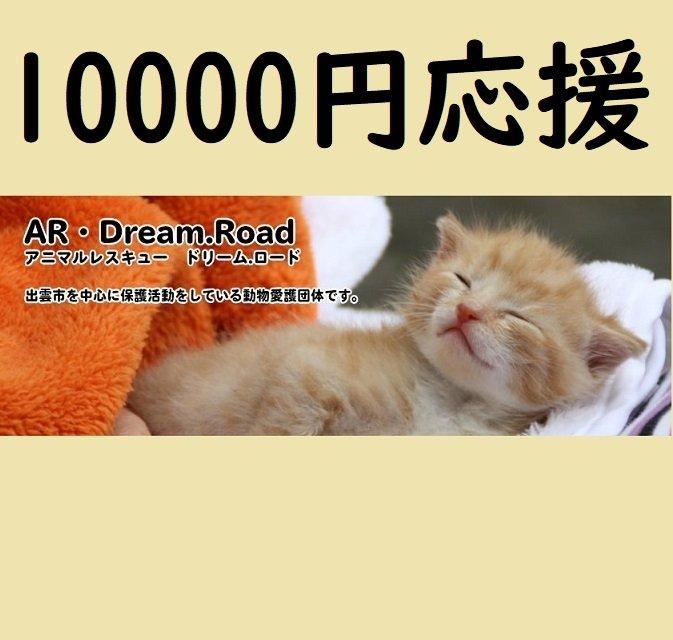 NPO法人アニマルレスキュードリームロード応援チケット募金一口10000円のイメージその1