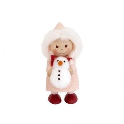 [ノルディカニッセ]クリスマスオーナメント 雪だるまをもった女の子 星に願いを[Nordika Nisse]