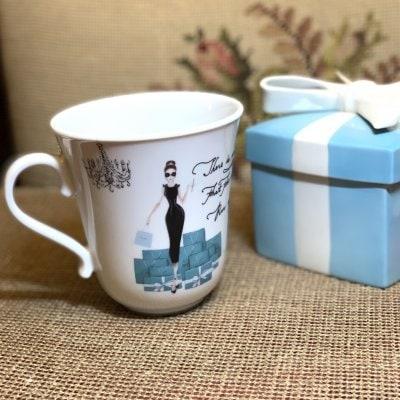 ティファニー風マグカップ イニシャルお入れします。