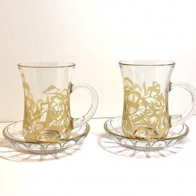 A様専用 フランクミュラー風ガラスのカップ&ソーサー
