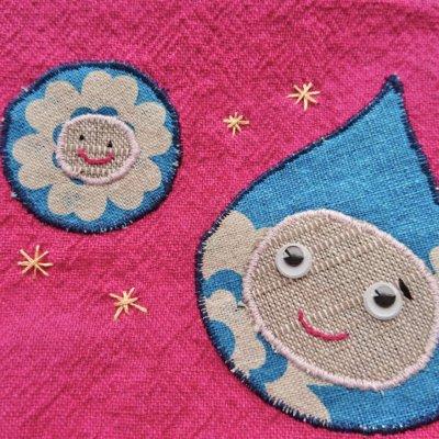帽子作家kotoさんが作るこまりちゃんポーチ|ピンク