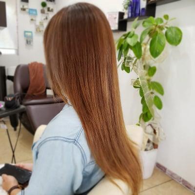 Straight Pointストレート 前髪 シャンプー・前処理・ブロー込み